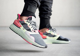 d8e642f9cec 2019 classic shoes ZX 4000 Consortium ZX 4000 4D printing stitching red and  black powder future technology men and women running shoes