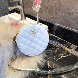 $enCountryForm.capitalKeyWord Australia - MARMONT Womens Luxury Wave Heart Mini Round Shoulder Bags Triple Black White Leather Handbags Ladies Fashion Handles Chain Small Dress Totes