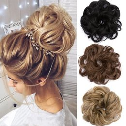 hot figures girls Australia - 2019 Newest Hot Fashion Curly Messy Bun Hair Piece Scrunchie Updo Cover Hair Extensions Real as human