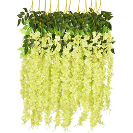 $enCountryForm.capitalKeyWord Australia - 12 Pack 3.6 Feet Piece Artificial Fake Wisteria Vine Ratta Hanging Garland Silk Flowers String Home Party Wedding Decor