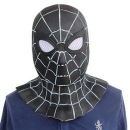black spider man mask 2019 - Halloween Adult Black Latex mask Helmet cosplay costume accessories Full Face Masks spider man Venom cheap black spider