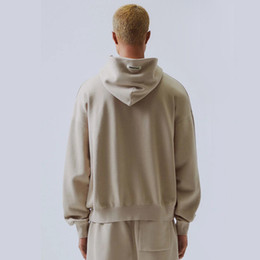19SS FEAR OF GOD ESSENTIALS Bordados Moda Hoodies FOG High Street Casual moletom Khaki Grey Street HFLSWY311