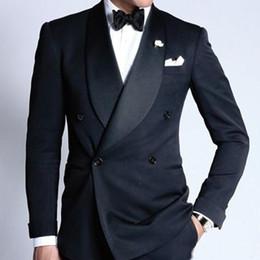 $enCountryForm.capitalKeyWord Australia - New Arrival Slim Fit 2019 Groom Tuxedos Black Groomsmen Best Mens Wedding Prom Formal Suits Custom Made (Jacket+Pants+Tie+Vest)