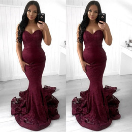 full open back prom dress Australia - Simple Full Lace Cascading Ruffles Burgundy Mermaid Evening Dresses Sweetheart Open Back Custom Made Sexy Prom Gowns BC0869