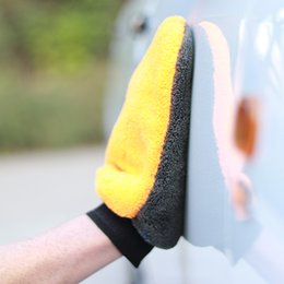 $enCountryForm.capitalKeyWord Australia - Wash Mitt 2pcs Car Wash Glove Cleaning Sponge Microfiber Chenille For Auto Detailing