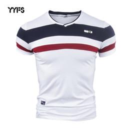 $enCountryForm.capitalKeyWord Australia - Cotton Vintage Patchwork Tees YYFS Men Short Sleeve T Shirts for Man New Summer Pure V Neck Cotton Tshirt Homme M-4XL