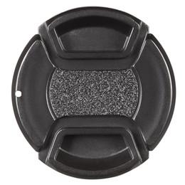 Dslr Camera Cap Australia - 40.5mm Center Pinch Snap-on Lens Cap Cover Keeper Holder for Canon Nikon Sony Olympus DSLR Camera Camcorder