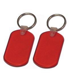 pvc key tags 2019 - Rectangular Pliable Soft Pvc Key Tag With Split Key Ring Keychain Key Holder Customized Logo Promotional Gifts cheap pvc