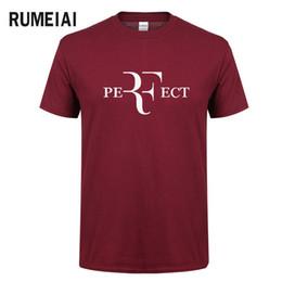 Mode d'été pour hommes RF T-shirts design parfaits Roger Federer T-shirts manches courtes à col en V Streetwear