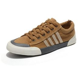 $enCountryForm.capitalKeyWord UK - 2019 Canvas Shoes Men Casual Shoes Breathable Wear-resistant Shoes Comfortable Round Toe Lace-up sneakers Flat