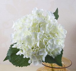 fake white hydrangea flowers NZ - 300pcs 55cm Artificial Hydrangea Flower Head Fake Silk Single Real Touch Hydrangeas 15 Colors for Wedding Centerpieces Home Decorative