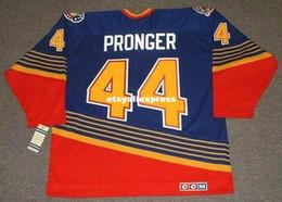 $enCountryForm.capitalKeyWord Australia - custom Mens CHRIS PRONGER St. Louis Blues 1997 CCM Jerseys Vintage Away Cheap Retro Hockey Jersey
