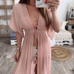Long swimwear womens online shopping - 2019 Hot Womens Bikini Cover Up Strappy Swimwear Beach Maxi Long Wrap Skirt Sarong Kimono Kaftan Dress