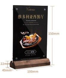 $enCountryForm.capitalKeyWord Australia - 10X15cm Tag Frame Price Label Holder Frame Stand Hotel Coutertop Desk Sign Frame Black Walnut Wooden Base Name Card Display Rack