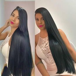 long 22 inch brazilian hair Australia - 30 Inch Human Hair Wig For Black Women Pre Plucked Full Lace Front Wigs Long Black Glueless Virgin Brazilian 30 Inch Lace Wig