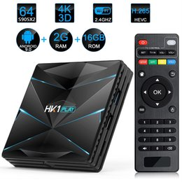 Discount google android tv box HK1 Play Android 9.0 Smart TV BOX S905X2 4GB+32GB 64GB 2.4GHz 5GHz Wifi Bluetooth 4K 3D Google Play Store Top box