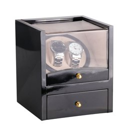 $enCountryForm.capitalKeyWord UK - New US EU AU UK Plug Automatic Mechanical Black Watch Winder High Class Motor Shaker Watch Holder Display Jewelry Box