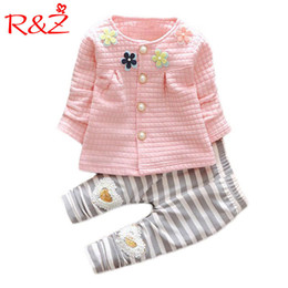 $enCountryForm.capitalKeyWord Australia - R&z 2017 New Baby Cothes Girls Flower Suit Cardigan + Pants 2pcs   Set Infant Jacket Kids Clothes Striped Pants Free Shipping J190425