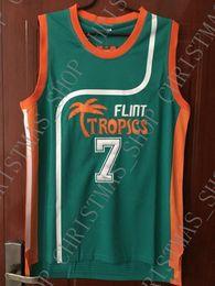 bb38889b5 Cheap wholesale Coffee Black Jersey Flint Tropics Semi Pro Movie Sewn Jersey  Customize any name number MEN WOMEN YOUTH basketball jersey
