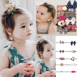infant care products NZ - 1Set 10Pcs Cute Kids Infant Headband Baby Girl Bow-knot Hair Clip Set 1 set of 10pc baby hair band A 2019 New Care product