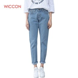 high waist trousers women clothes NZ - Vintage Boyfriend Jeans For Women High Waist Loose Trousers Jeans Woman Casual Preppy Style Clothes Woman Denim Harem Pants MX190712