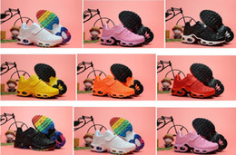 Rainbow Basketball Shoes NZ - Designer Kids White Rainbow Tn MERCURIAL Running Shoes Children KPU Tn Trainers Sports Sneakers Plus TN Ultra SE Toddler Athletic Shoes