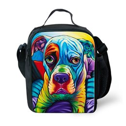 $enCountryForm.capitalKeyWord Australia - ThiKin Lunch Bag Children Cooler Lunch Box For Kids Boys Girls Dog Painting School Thermal Insulated Adult Pinic Box