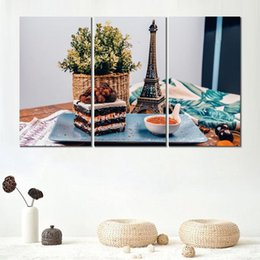 rectangle cake decoration Australia - Art poster print on canvas cake dessert biscuit 3 set wall pictures for home decoration