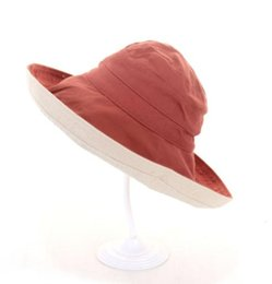 ccf2f360 2019 new hot trend casual double-sided wearing fisherman hat big beach hat  female sun protection sun hat summer outdoor folding