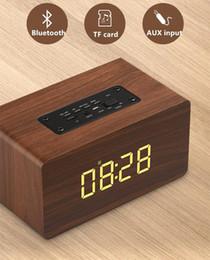 IntellIgent reader online shopping - High quality Portable Wooden Bluetooth Speaker W Output Strong Bass Music Sound High Definition Intelligent Handsfree TF Card Aux Speaker