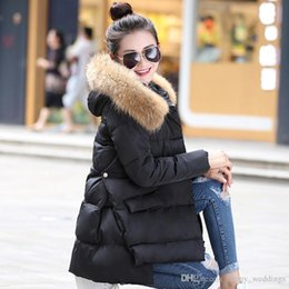 Real fleece online shopping - Womens Down Jackets Nice Large Real Raccoon Fur Collar Winter Jacket Women Down Parka Loose Thickening Warm Outwear Clothing