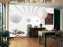 large paper rolls Australia - New Custom large mural 3D wallpaper Modern creative corridor space geometric sphere bedroom TV back wall roll home decor deep 5D embossed