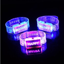 $enCountryForm.capitalKeyWord Australia - Led Party Rave Glow Party Supplies LED Flash Happy Light Up Glow Bracelet Party Club Stage Gift Wrist Band Decoration