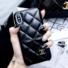 Wholesale Top Luxury Cell Phone Case for iPhone X XS XR Xs Max plus plus plus High Quality Leather Card Holder Designer Case