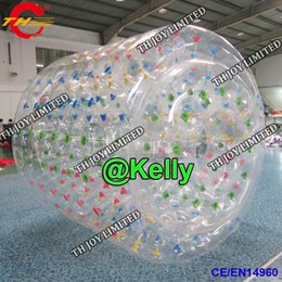 Inflatable Pool Water Walking Balls Australia - Transparent inflatable water roller inflatable clear water rolling tube summer swimming pool game toy durable water walking balls for sale