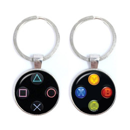 Discount video game glasses Video Game Controller Keychains Cool Men Gaming Gamer New Vintage Jewellery Fashion Jewelry Key Ring Holder Glass Keycha