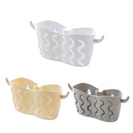 $enCountryForm.capitalKeyWord UK - Hole-free Suction Cup Storage Hanging Basket Faucet Dish Washing Sponge Drain Basket for Bathroom Kitchen Storage Shelf Rack