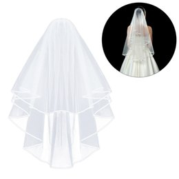 $enCountryForm.capitalKeyWord UK - 1Pcs White Bridal Wedding Veil Bride To Be Satin Sash Bachelorette Party girls Hen Party Decoration Supplies