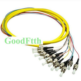 fiber optic pigtails Australia - Fiber Optic Pigtail ST UPC SM 12 cores distribution 0.9mm GoodFtth 0.5-3m