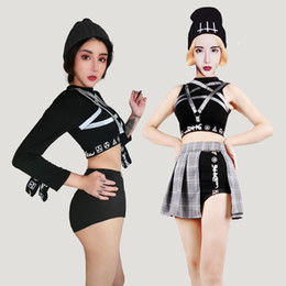 Discount combination collar - New Ds Costumes Female Singer Collar Dance Costume Jazz Stage Sexy Combination Korean Dance Team Cheerleading Uniform 20