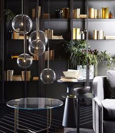 $enCountryForm.capitalKeyWord Australia - Simple modern glass ball pendant light LED E27 art deco Europe hanging lamp with 8 styles for bedroom restaurant kitchen parlor