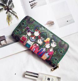 $enCountryForm.capitalKeyWord NZ - Factory direct sale printed ladies purse long zipper hand bag 2018 new ethnic print zero purse