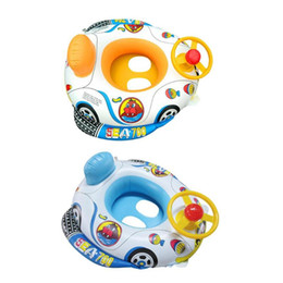 toddler swimming floats Australia - Baby Infant Kids Inflatable Swimming Ring Toddler Seat Pool Float Bath Water Fun Bathing Swim Trainer Toy Swim Pool Accessories
