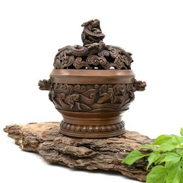 $enCountryForm.capitalKeyWord UK - Yong He Xuan Hand-made Red Copper Dragon Censer- Incense Burner- Contain Incense Holder Net Weight:1280g(Approx.) China Classical Style Trad