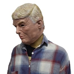 $enCountryForm.capitalKeyWord Australia - MASCARELLO Realistic Donald Trump Latex Mask Halloween President Latex Face Hair Real Carnival Costume Party Cosplay Dress
