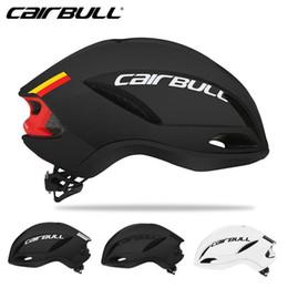 Cairbull Наука Велоспорт Helm Racing Wheel Аэродинамика Пневматический шлем Мужчины Спорт Aero велосипед шлем на Распродаже