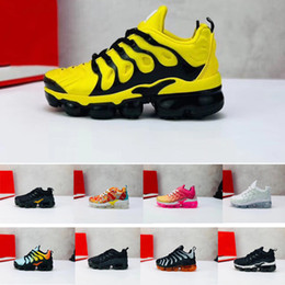 air sports Australia - 2019 hot Infant Kids Tn Running Shoes Air Cusion Grey White Black Children Sport Shoes Toddler Trainer Rainbow Boy and Girl Tns Sneaker X140
