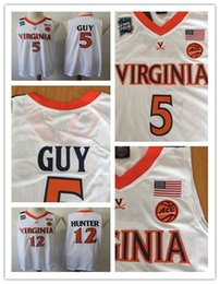 379655c6809 5 Kyle Guy 12 De'Andre Hunter 2019 NCAA Final Four Champions Virginia  Cavaliers Men's Basketball Stitched Jerseys PHYSICAL STOCK PHOTO S-2XL