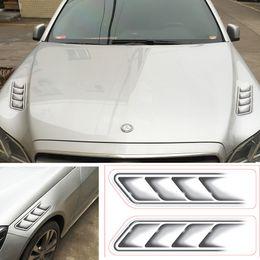 Car Air Flow Australia - 2pcs Set 3D Shark Gills Car Stickers and Decals Auto Sticker Car Vent Air Flow Fender Decor Car- styling Waterproof 40*24cm