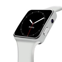 Smart Andriod Phone Watches Australia - X6 Smart Watch Android Pedometer Sleep Monitor Tracker Lighting Sport Smartwatch for IOS Andriod Phone Camera Watch